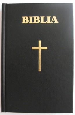 Biblia - format mare, coperta carton (negru), cuvintele Domnului Isus cu rosu (HB)