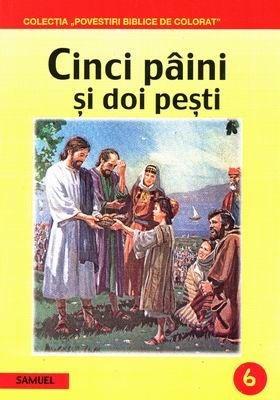 Povestiri biblice de colorat - Cinci pâini şi doi peşti (SC)
