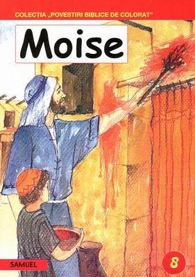 Povestiri biblice de colorat - Moise (SC)