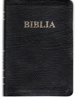 Biblia - format mic, de lux, fără fermoar, neagra (Piele)