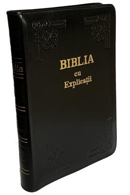 Biblia - format mare, de lux, cu explicaţii si concordanţă, fara fermoar (Piele)