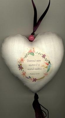 Decoraţiuni - inimioară cu verset
