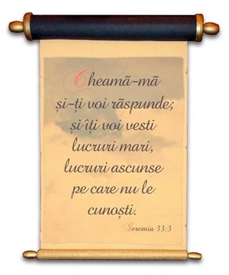Pergament cu rulaj ascuns - Ieremia 33:3