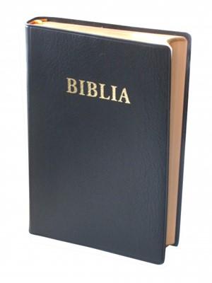 Biblia - format mediu, copertă vinilin, margini aurii, cuvintele Domnului în roşu