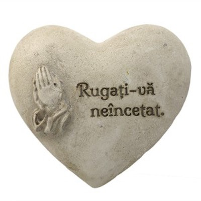 Magnet inimă: Rugaţi-vă neîncetat