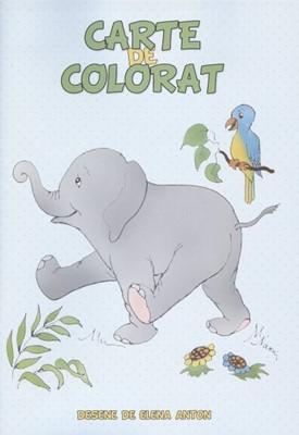 Carte de colorat - Elefănţel