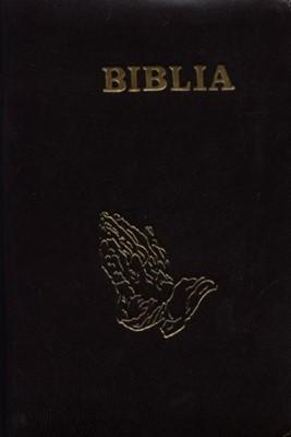 Biblia  format mediu, coperta piele, cu fermoar, cuvintele D-lui Isus cu rosu - diverse culori