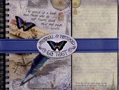 Jurnal and notepad gift set