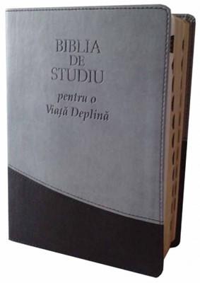 Biblia de studiu pentru o viaţă deplină - Ediţie de lux, gri/negru (SC)