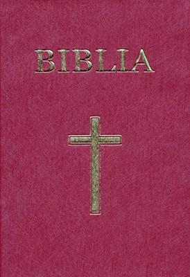 Biblia - format mediu, coperta vinilin, visiniu (SC)