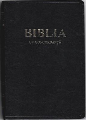 Biblia - cu concordanta, format foarte mare, coperta piele, aurită, index, cuv. d-lui Isus în roşu