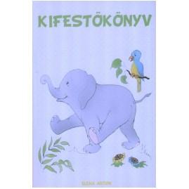 Carte de colorat - Elefănţel - maghiară