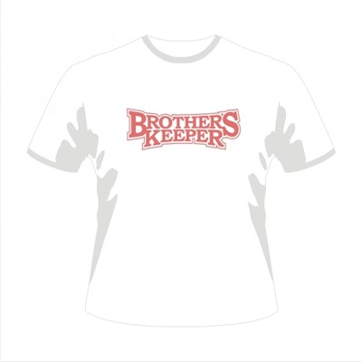 Tricou - Brother's Keeper - M alb