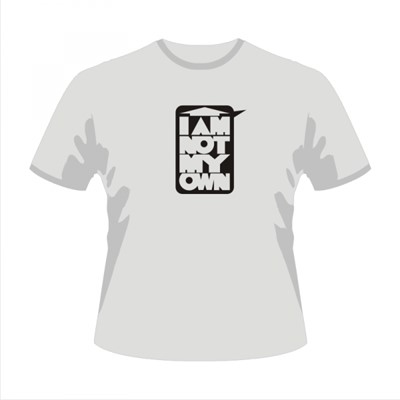 I am not my own - tricou alb - XL
