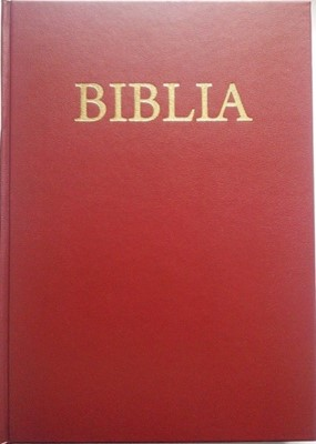 Biblia - mica, coperta flexibila, cuvintele Domnului cu rosu
