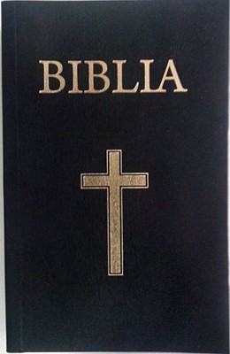 Biblia - mica, coperta piele, aurita, cu index, fermoar, neagra