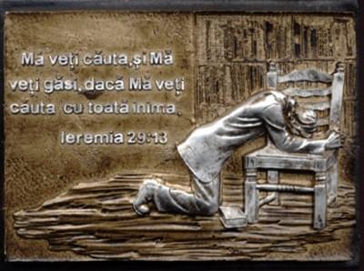 Ornament magnetic - Mă veti căuta (Ieremia 29.13)