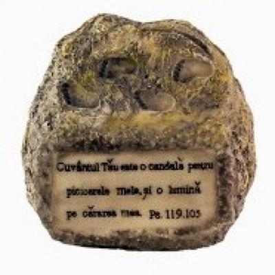 Ornament răşină - piatră - Psalmi 119:105