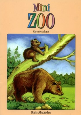 Mini zoo: Carte de colorat