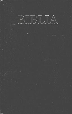 Biblia  medie 2, coperta carton, negru, fara cruce