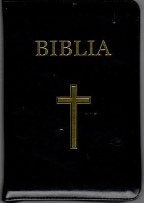 Biblia  format mediu, ediţie de lux, negru (piele)