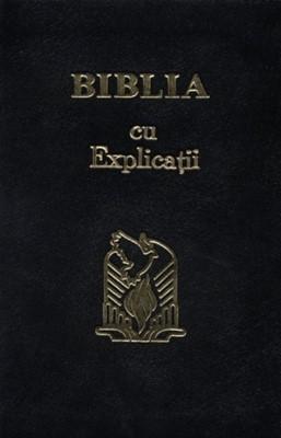 Biblia cu explicaţii - coperta piele, aurită, fără fermoar