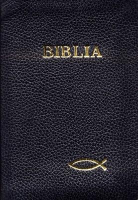 Biblia medie, copertă piele, cu fermoar, cuvintele D-lui în roşu