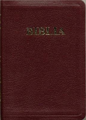Biblia  format mic, de lux, fara fermoar, cuv. Dl Isus in roşu, bordeaux