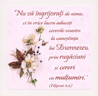 Tablou vintage - Filipeni 4:6