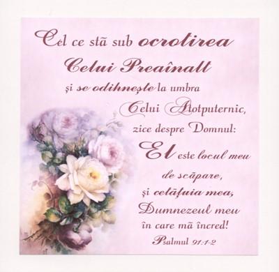 Tablou vintage - Psalmul 91:1-2