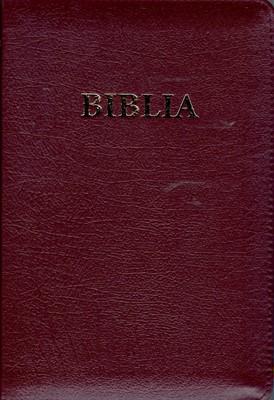 Biblia  format mediu, de lux, cu fermoar, index, margini aurii, coperti diferite culori (Piele)