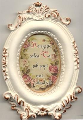 Mini tablou de ceramică oval- Netezeşte calea Ta