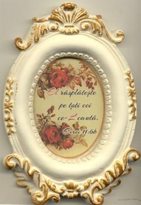 Mini tablou de ceramică oval - El răsplăteşte