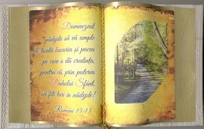 Carte decorativă mare. Romani 15:13