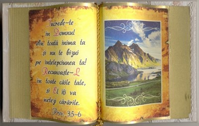 Carte decorativă mare. Prov. 3:5,6