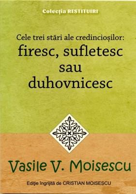 Cele trei stări ale credincioşilor: firesc, sufletesc sau duhovnicesc