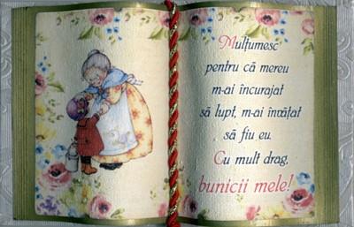 Carte decorativa mica - Bunicii mele...