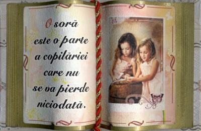 Carte decorativa mica - O sora...