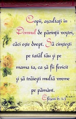 Pergament cu rulaj ascuns - Efeseni 6.1-3