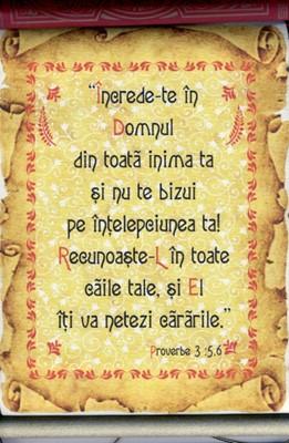 Pergament - Proverbe 3.5