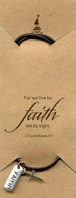 Pandantiv cu şnur Faith şi cruciuliţă
