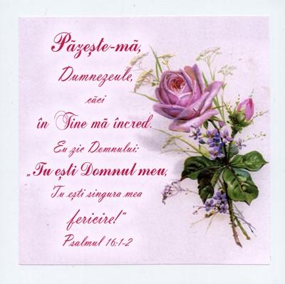 Tablou vintage - Psalmul 16:1-2