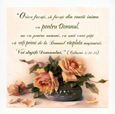 Tablou vintage - Coloseni 3:23, 24