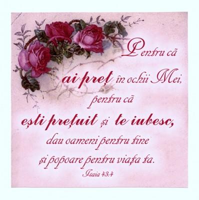 Tabou vintage - Isaia 43:4