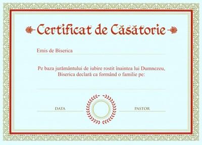 Certificat de casatorie B