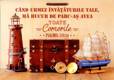 Poster A4 laminat - Psalmul 119_14