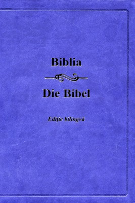 Biblia - Editie bilingva (romana - germana), bleumarin