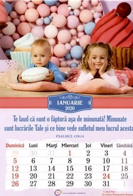 Calendar A4: 2020, copii