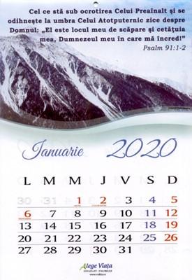 Calendar A4: 2020, imagini şi versete