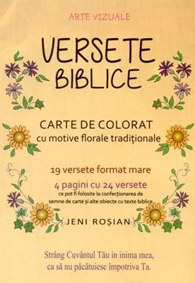 Versete biblice - carte de colorat A4
